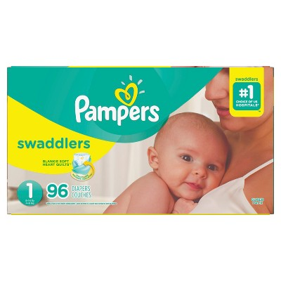 Pampers Swaddlers Diapers Super Pack - Size 1 (96ct)