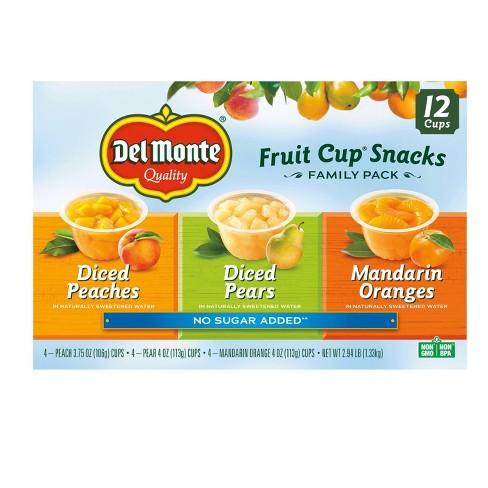 Del Monte Diced Peaches Diced Pears & Mandarin Oranges Fruit Cups - 4oz/12ct - image 1 of 1