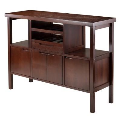 Diego Buffett Sideboard Cabinet Wood/Walnut - Winsome