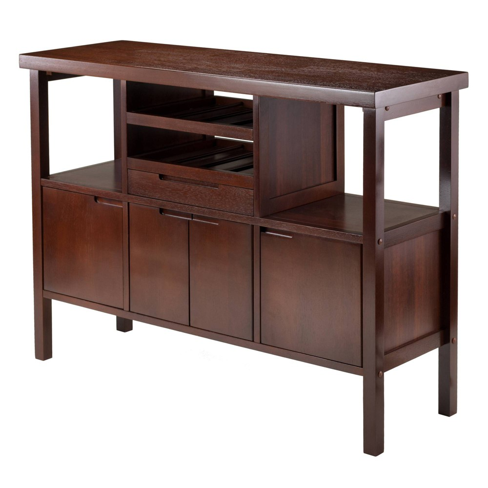 Diego Buffett Sideboard Cabinet Wood/Walnut (Brown) - Winsome