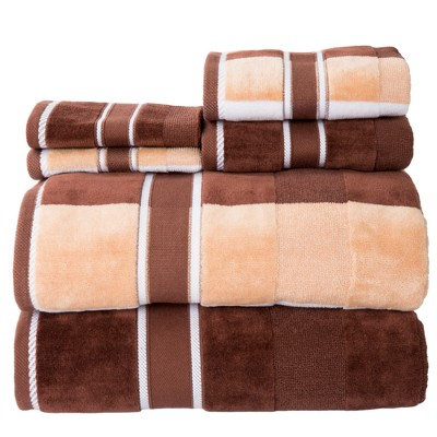 6pc Striped Bath Towel Set - Yorkshire Home