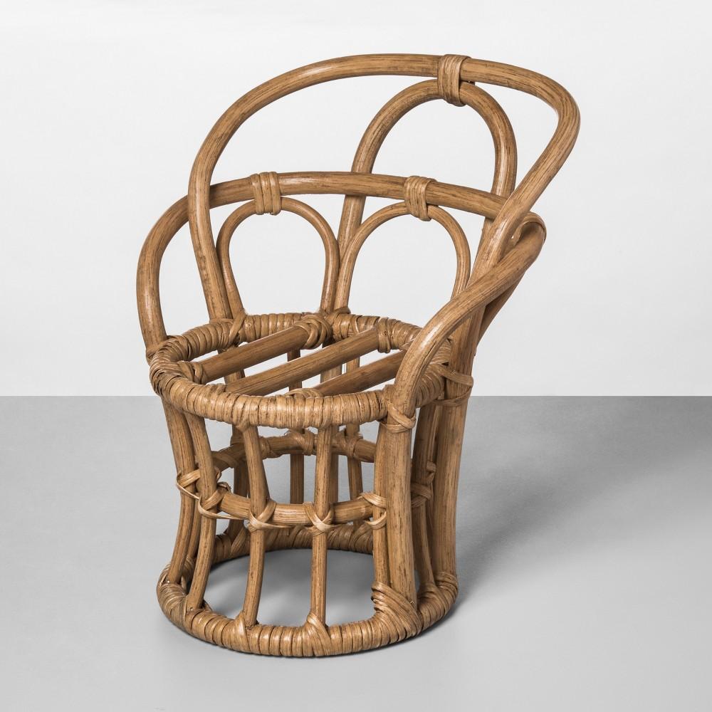 11.5 x 9 Rattan Chair Shaped Planter Natural - Opalhouse