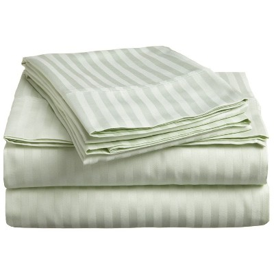 Premium 300-Thread Count Cotton Stripe Deep Pocket Sheet Set - Blue Nile Mills