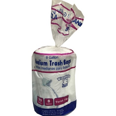 Twist Tie Vanilla Scented 8gal Medium Trash Bags - 90ct