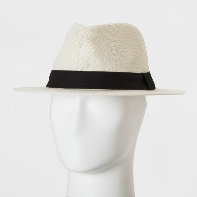 Men's Faux Panama Safari With Twill Band With Side Loop - Goodfellow & Co™ Ivory L/XL
