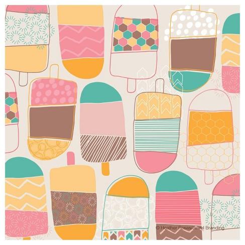 4pk Ceramic Cartoon Popsicle Print Coasters - Thirstystone - image 1 of 4