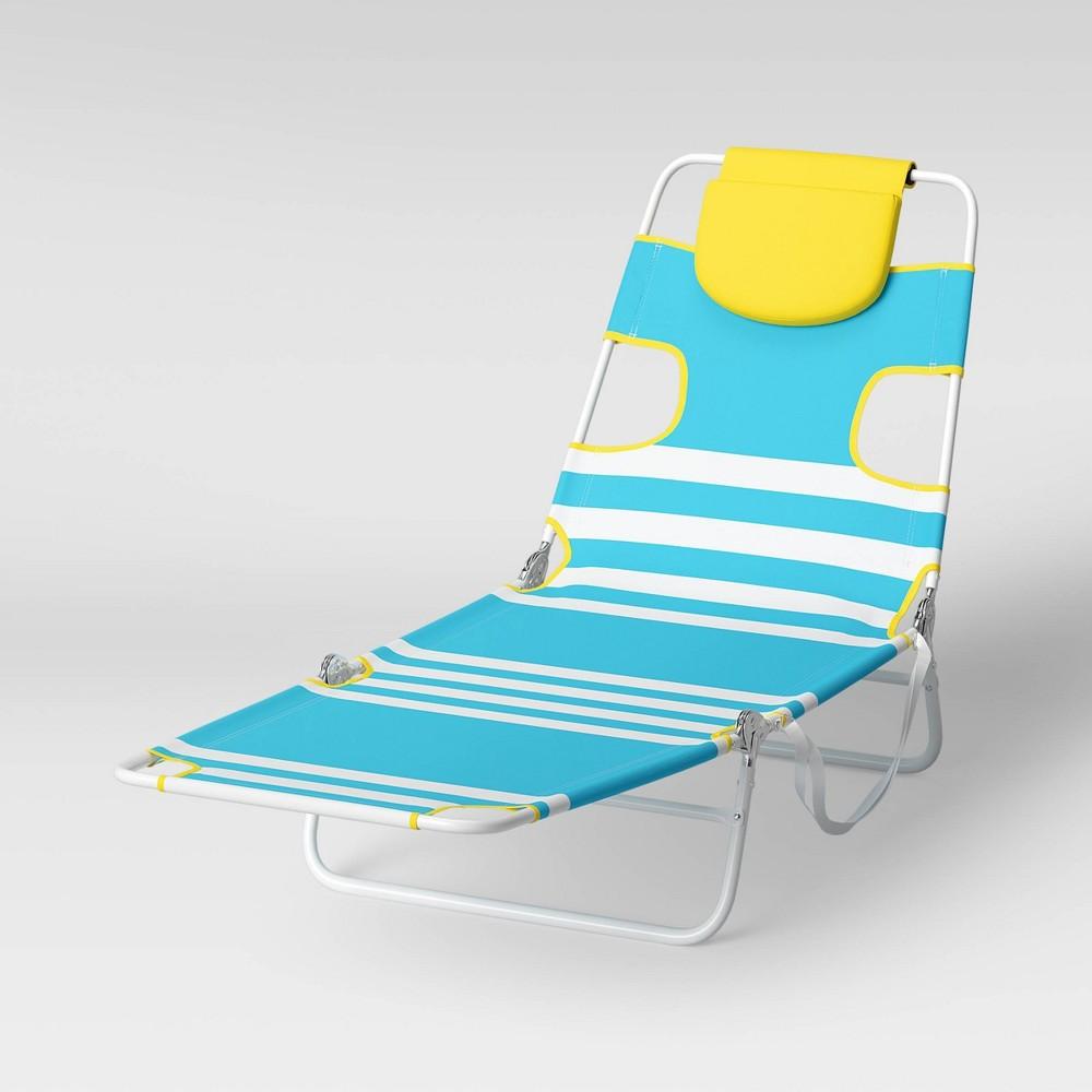 Coupons Beach Sand Lounger - Blue Stripe - Sun Squad™