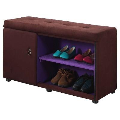 "Shoe Storage Ottoman 18"" - Brown - Ore International"