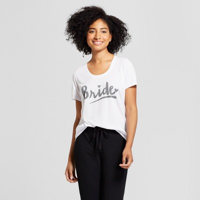 Love and Cherish Women's Pajama T-Shirt - White L