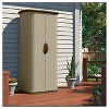 Resin Vertical Utility Shed - Brown - Suncast - image 3 of 4