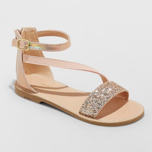 Girls' Kalyssa Asymmetrical Ankle Strap Sandals - Cat & Jack™ - image 1 of 4