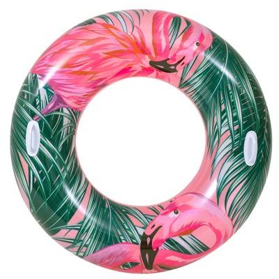 "Pool Central 45"" Tropical Flamingo Inner Tube Pool Float"