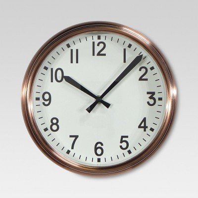 10  Round Wall Clock Copper - Threshold™