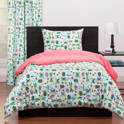Full/Queen Snug As A Bug Reversible Comforter Set Green - Highlights
