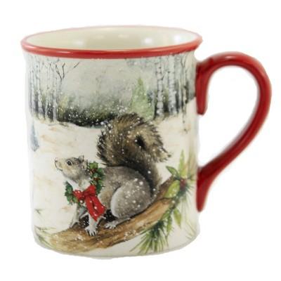 "Tabletop 4.0"" Winter Forest 16  Oz. Mug Christmas Winter Certified International  -  Drinkware"