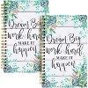 Pack of 2 Corresponding Journal Bundle with Mouse Pad, 128 GSM Pink Paper Notebook, Dream Big Work Hard Green Succulent Floral Design - image 2 of 4