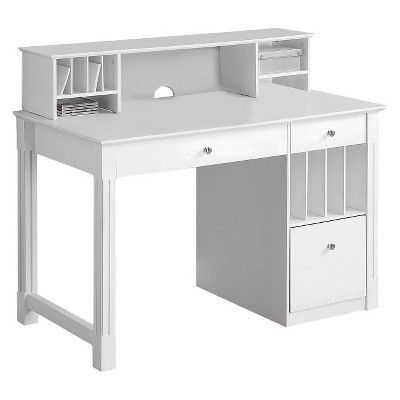 White desk for home office White Gloss Home Office Deluxe Wood Storage Computer Desk saracina Home Target Home Office Deluxe White Wood Storage Computer Desk With Hutch
