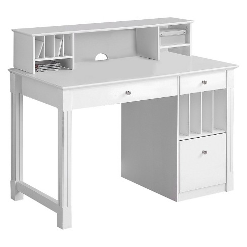 Home Office Deluxe Wood Storage Computer Desk -Saracina Home - image 1 of 4