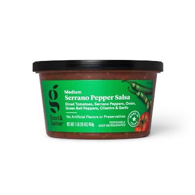 Serrano Pepper Salsa - Medium Heat - 16oz - Good & Gather™