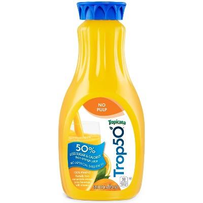 Tropicana Trop50 No Pulp Orange Juice - 52 fl oz