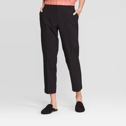 Women's Mid-Rise Straight Fit Ankle Pants - Prologue™ Black - image 1 of 3