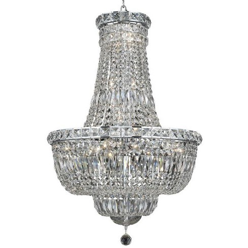 Elegant Lighting 2528D22C Tranquil 22-Light, Two-Tier Crystal Chandelier, Finished in Chrome - image 1 of 1