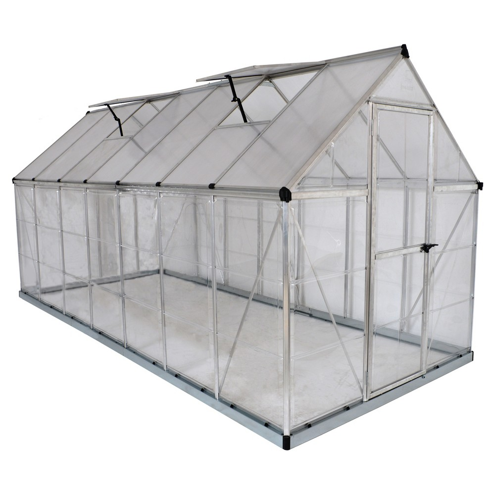 Image of 6'X14 Hybrid Greenhouse - Silver - Palram