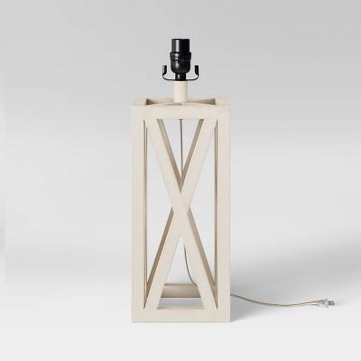 Large Box LED Lamp Base White (Includes Energy Efficient Light Bulb) - Threshold™