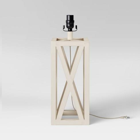 Large Box LED Lamp Base White (Includes Energy Efficient Light Bulb) - Threshold™ - image 1 of 4