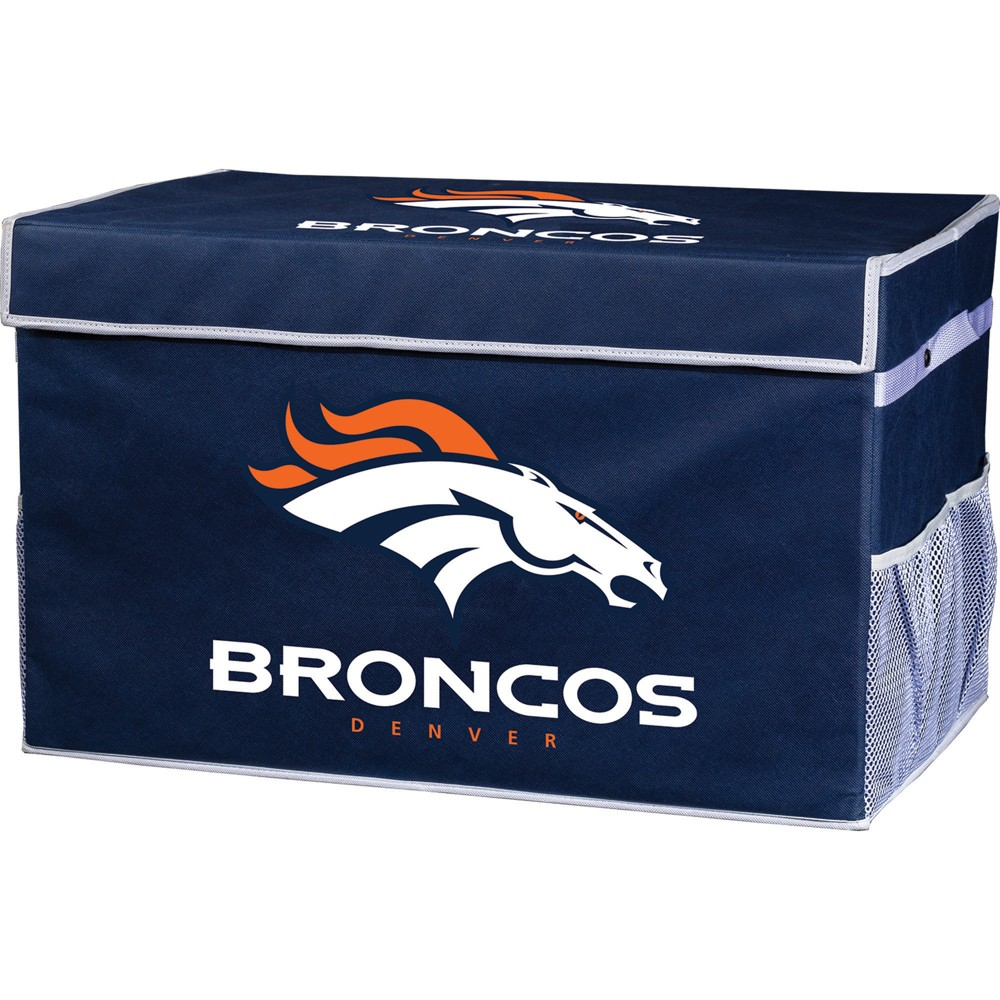 NFL Franklin Sports Denver Broncos Collapsible Storage Footlocker Bins - Large, Multicolored