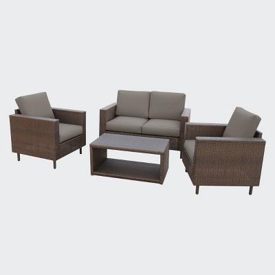 Draper 5pc Seating Set - Gray - Leisure Made