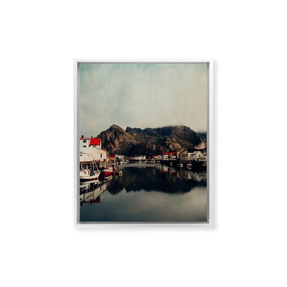 8 34 X 10 34 Ingrid Beddoes Mountain Living Framed Art Canvas White Deny Designs
