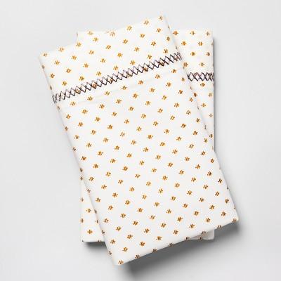 Print Percale Cotton Pillowcases (Standard)Gold - Opalhouse™