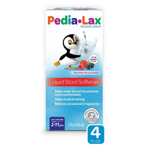 Pedia-Lax Liquid Stool Softener for Kids Ages 2-11 - Berry Flavor - 4fl oz - image 1 of 3