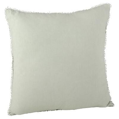 """20""""x20"""" Pompom Design Throw Pillow - Saro Lifestyle"""