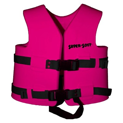 TRC Recreation Super Soft USCG Childs Foam Swim Vest, XS, Flamingo Pink