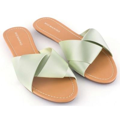 Mio Marino - Women's Satin Knot Slipper Shoes