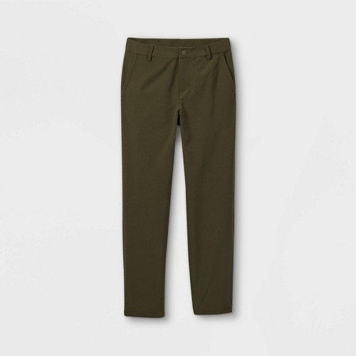 Boys Golf Pants All In Motion Olive Green 8