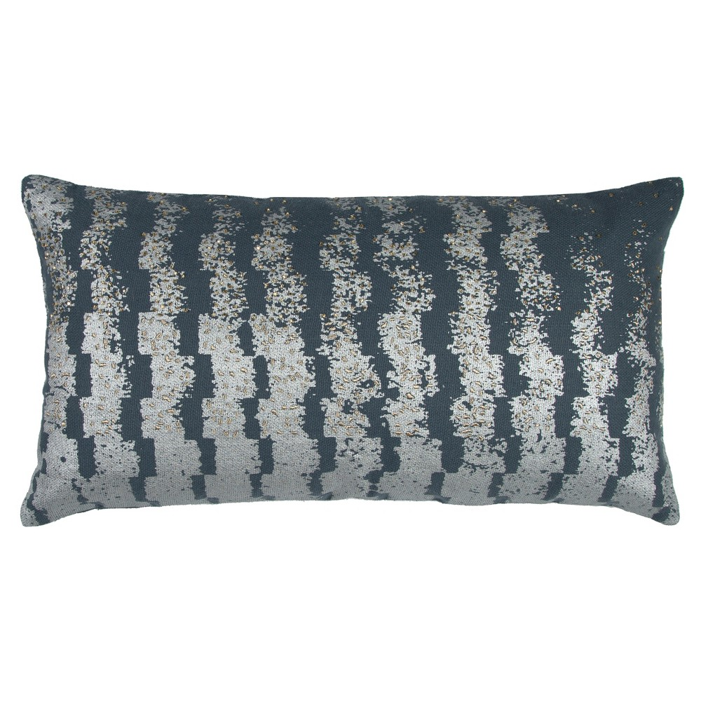 """Image of """"Gray Cotton Throw Pillow (14""""""""x26"""""""") - Rizzy Home"""""""
