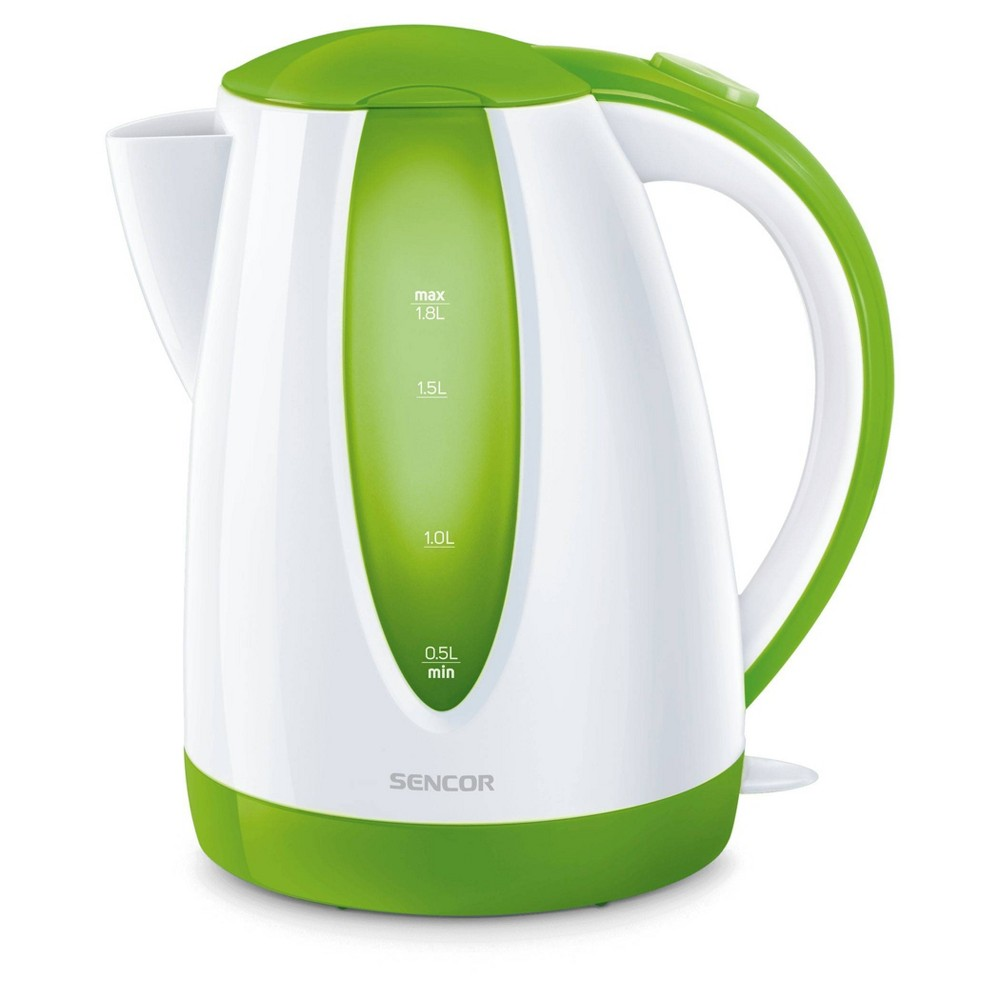 Sencor 1.8L Electric Kettle - Green Cordless electric kettles by Sencor heats water twice as fast as stove top, offering better speed, convenience, energy efficiency and safety! This electric kettle comes with a 360 degree swivel and bright finish. Color-coordinate with other kitchen electrics by Sencor to create a beautiful kitchen with European design touch! Color: Green. Gender: unisex.
