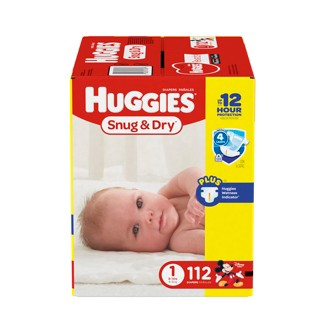 Huggies Snug & Dry Diapers Big Pack - Size 1 (112ct)