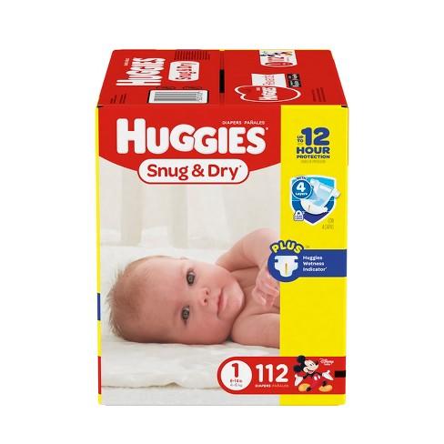 Huggies Snug Dry Diapers Big Pack Size 1 112ct