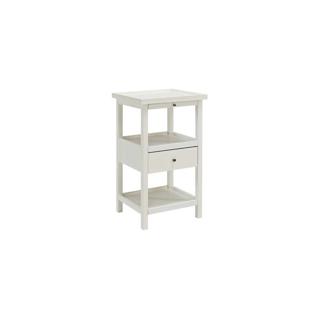 Largo Side Table with Expandable Top White - Powell Company