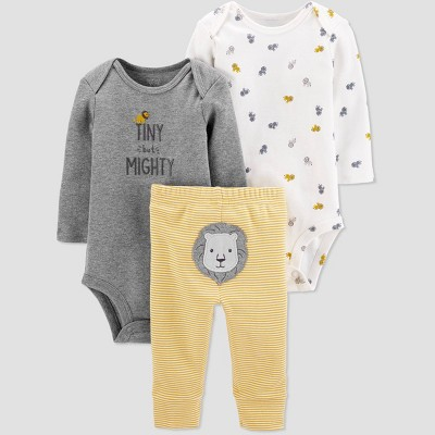 Baby Boys' 3pc Lion Stripe Top & Bottom Set - Just One You® made by carter's 6M Yellow