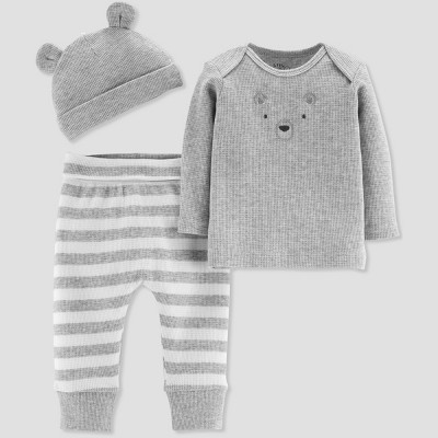 Baby Boys' Bear Print 3pc Set - Just One You® made by carter's Gray Preemie