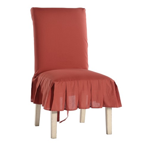 Astounding Cotton Duck Pleated Dining Chair Slipcover Cjindustries Chair Design For Home Cjindustriesco