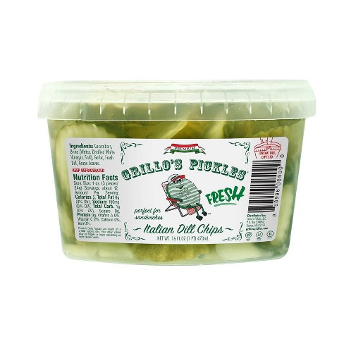 Grillo's Pickles Italian Dill Chips - 16oz - image 1 of 4