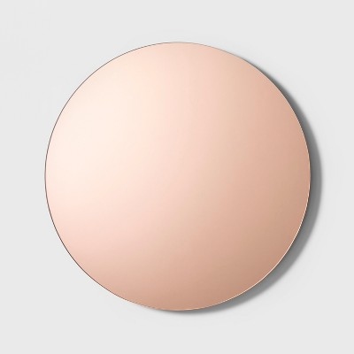 18  Decorative Round Wall Mirror Brown - Project 62™