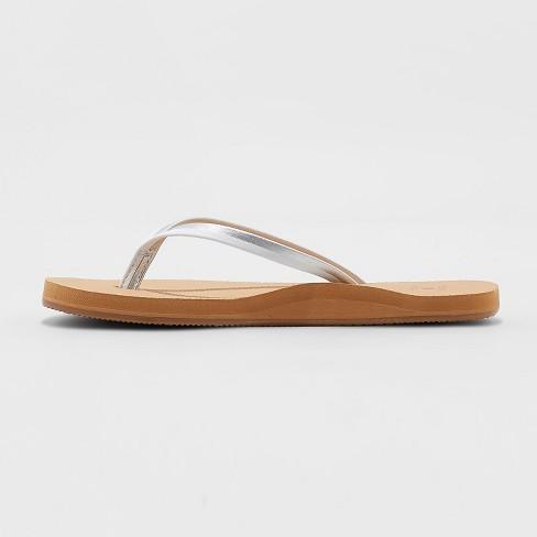 523b191daa2 Women s Adrianna Multi Color Skinny Strap Flip Flop Sandals - Shade   Shore™  White 12   Target