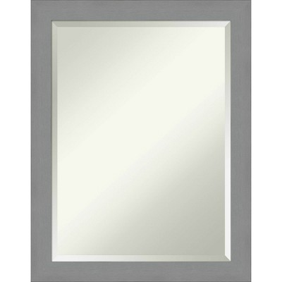 Framed Bathroom Vanity Wall Mirror Brushed Nickel - Amanti Art